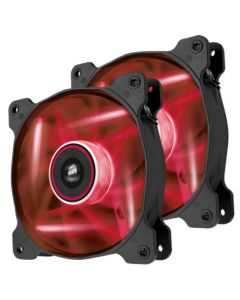 Corsair Air Series SP120 LED Red High Static Pressure 120mm Fan - Twin Pack
