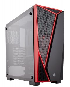 Corsair Carbide SPEC-04 Midi-Tower Black/Red (Tempered Glass)